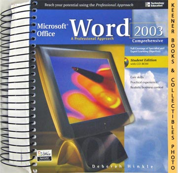 Image for Microsoft Office Word 2003 (A Professional Approach Comprehensive - Student Edition With CD - ROM)