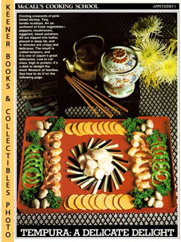 Image for McCall's Cooking School Recipe Card: Appetizers 1 - Tempura (Replacement McCall's Recipage or Recipe Card For 3-Ring Binders): McCall's Cooking School Cookbook Series