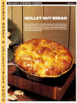 Image for McCall's Cooking School Recipe Card: Breads 41 - Honey-Nut Kuchen (Replacement McCall's Recipage or Recipe Card For 3-Ring Binders): McCall's Cooking School Cookbook Series
