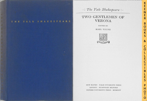 Image for Two Gentlemen Of Verona: The Yale Shakespeare Series