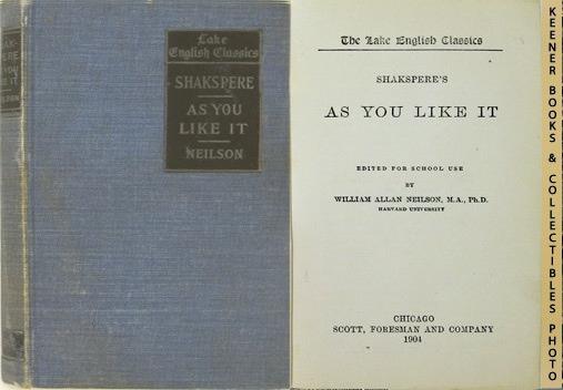 Image for Shakspere's As You Like It: The Lake English Classics Series