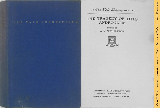 Image for The Tragedy of Titus Andronicus: The Yale Shakespeare Series
