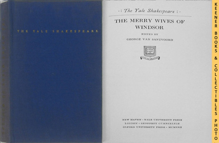 Image for The Merry Wives Of Windsor: The Yale Shakespeare Series