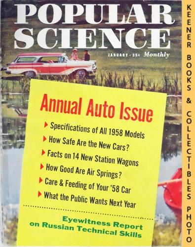 Image for Popular Science Monthly Magazine, January 1958 (Vol. 172, No. 1) : Mechanics - Autos - Homebuilding