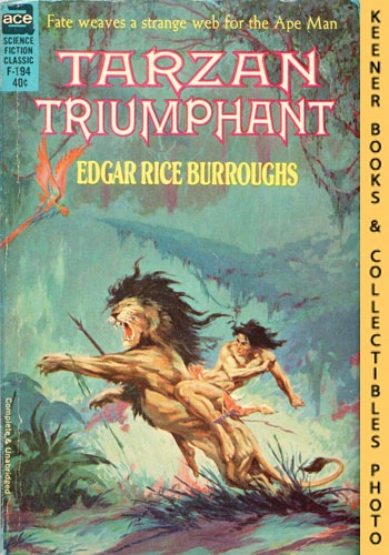 Image for Tarzan Triumphant: F-194 : Fate Weaves A Strange Web For The Ape Man